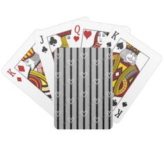 Sketchy Hearts and Stripes Playing Cards - modern gifts cyo gift ideas personalize