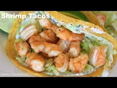 Clean & Delicious with Dani Spies Super Simple Shrimp Tacos (Video) - Clean & Delicious with Dani Spies Clean Eating Shrimp, Clean Eating Recipes, Healthy Eating, Cooking Recipes, Healthy Recipes, Cooking Ideas, Easy Recipes, Healthy Foods, Free Recipes