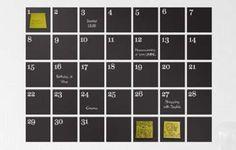 The Ferm Living Calendar Unsticks Your Schedule #uniquedecals #stickerdecals trendhunter.com