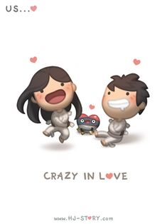 Love Facts : Picture Description Check out the comic HJ-Story :: Crazy in Love Crazy In Love, Love Is Sweet, What Is Love, My Love, Hj Story, Love Is Cartoon, Cartoons Love, Couple Cartoon, Chibi Couple