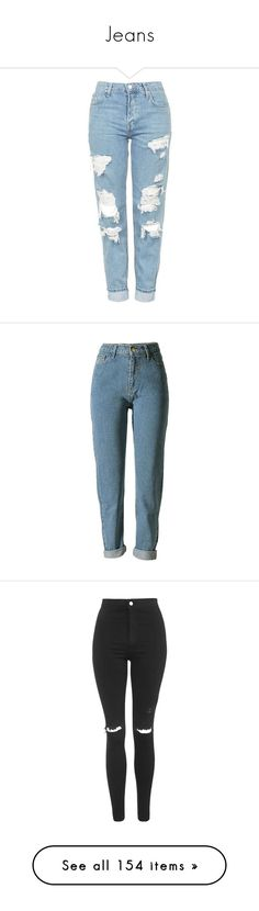 """""""Jeans"""" by aylin-schroeder on Polyvore featuring pants, bottoms, trousers, jeans, chanel, women, vintage wool pants, high-waist trousers, high rise pants und high waisted tapered trousers"""
