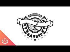 Barber Logo Design Time Lapse in Inkscape - YouTube