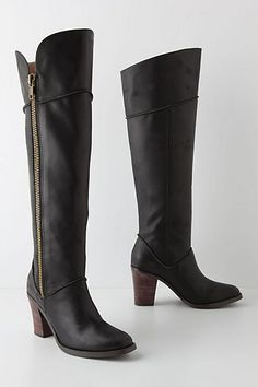 Lateral Zip Riding Boots #anthropologie