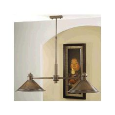 Lustrarte Lighting Rustik American Coop 2 Light Shaded Chandelier Finish: Antique Brass Mat