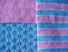 "knit blanket. 15"" square. several sizes. simple enough for a beginner, quick to make for an experienced knitter; these blankets are great for doll blankets and preemie baby charities. Double the cast on number and knit a full sized, 30"" baby blanket."