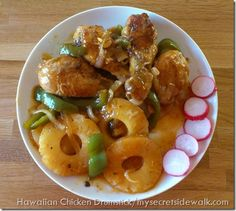 Hawaiian Chicken Drumstick.......mine didn't turn out exactly like this, but it was pretty darn good.  Rich even said so......