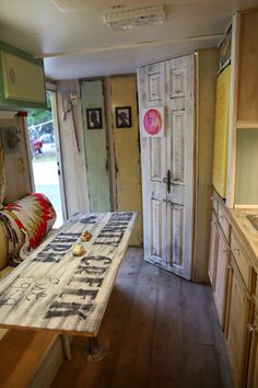 Vintage camper interior … More