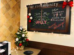 Cow Appreciation Day, Community Boards, Milkshake, Peppermint, Chalkboard, East Ridge, Christmas Decorations, Seasons, Bullet Journals