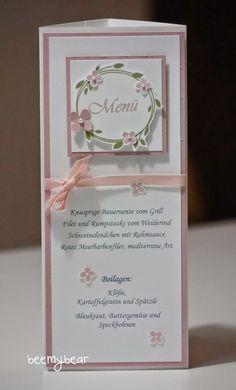 stampin with beemybear: Hochzeit, Menükarte, Stampin'up, Perfekter Tag, Überraschung