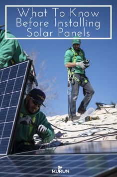 If you decided to make the transition to solar energy, you'll need to know these things before installing solar panels in your home. [Green Energy, Solar Panels, Solar Energy In Home, Green Homes, Installing Solar Panels, Solar Panel Installation, Things To Know About Solar Energy, Solar Panel Contractor]