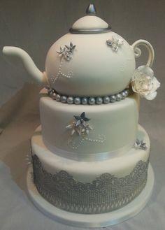 Vintage Teapot Cake ~ all edible