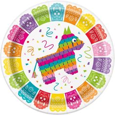 Fiesta Plates, Set of Desert Party, Outdoor Party, Fiesta Party, Cactus Party Mexican Birthday Parties, Mexican Fiesta Party, Fiesta Theme Party, Party Themes, Party Ideas, Taco Party, Party Plates, Party Tableware, Dinner Plates