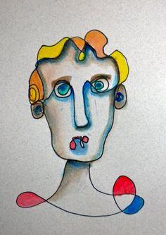 100 Faces: A Quick Sketch Project