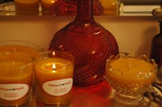Candles with beewax