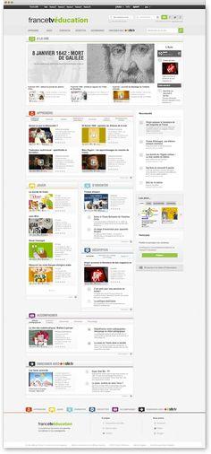 FranceTV Education - Web site by Marine Sergent, via Behance