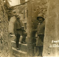 German entrenchment 8 meters from the front