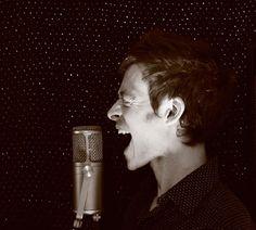 Alexandre Désilets. Photo: Florence Mennessier. #album #artwork #music #montreal #photography #mic #microphone #scream #sing