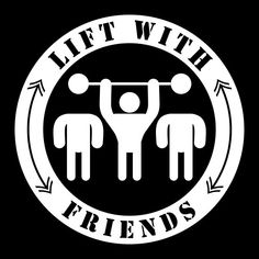 'Lift with friends' by conceptkid Sport Clothing, Design Products, Sport Outfits, Cool Designs, Symbols, Peace, Friends, Athletic Clothes, Amigos