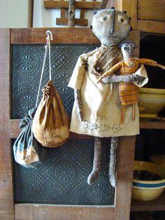 seed bags and prim doll.  www.gifthorsefarm.net