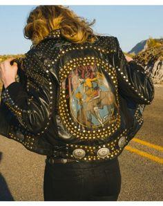 Double D Ranch Jesse Biker Jacket - Double d leather jacket, dd ranch biker jacket, dd ranch studded jacket, apparel, western wear  http://www.cowgirlkim.com/double-d-ranch-fall-2014-jesse-leather-biker-jacket.html