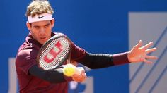 Juan Martin del Potro wins his first clay-court match in nearly three years in Munich.
