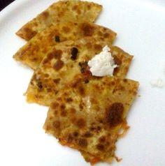 Carrot Cheese Parantha