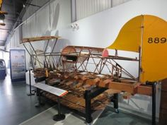 """""""Doodle Bug,"""" the first bi-plane built in New Hampshire at the NH Aviation Museum in Londonderry NH."""