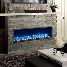 Dynasty Built-In Electric LED Fireplace - Fireplaces and Inserts at Hayneedle Fireplace Tv Wall, Linear Fireplace, Fireplace Built Ins, Fireplace Remodel, Fireplace Inserts, Fireplace Design, Fireplace Stone, Shiplap Fireplace, Fireplace Ideas