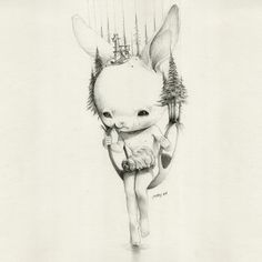 Roby Dwi Antono was born 1990 in Ambarawa, Semarang. He now lives and works as an artist, illustrator and graphic designer in Yogyakarta. His work is heavily influenced by masters like Mark Ryden and Marion Peck, both in content and quality. Amazing work from such a young talent.