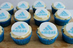 Adidas Shoe Cupcakes by lydiabakes