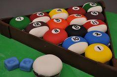 Bethel Bakery - 3D Sculpted Pool Table Cake - #cake #bakery #pool