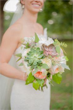 succulent and garden rose bouquet   gold and peach wedding ideas   bridal bouquet   #weddingchicks