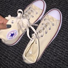 New without tags high top converse Cream color. Converse Shoes Sneakers