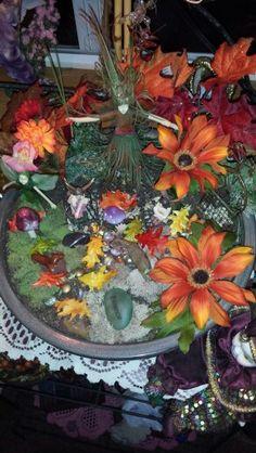 Fall fairy garden.
