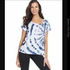 NWT Style&co.  Sport Tie-Dyed Tee NWT Style&co.  Sport Tie-Dyed Tee Color : INK Style & Co Tops Tees - Short Sleeve