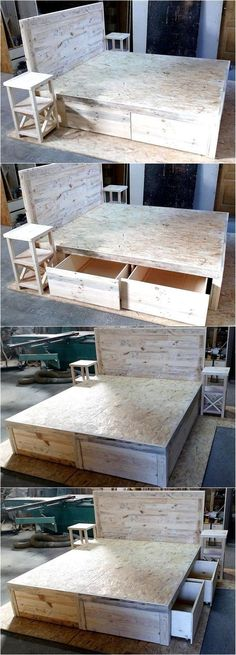 Handmade items always inspire the viewers, especially if they are created recycling wood pallets because they are useless for most of the individuals and they throw it away instead of keeping them safely and restyling them into the stylish products. Pallet Furniture, Furniture Projects, Simple Furniture, Furniture Vintage, Furniture Plans, Pallet Projects, Home Projects, Diy Pallet, Pallet Ideas
