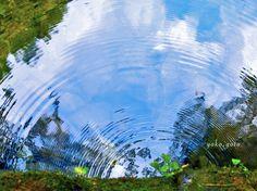 まるで青空の波紋。(@AKAME 48 WATERFALLS)赤目四十八滝にて