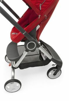Stokke Scoot stroller in red –compact & nimble for the on-the-go family