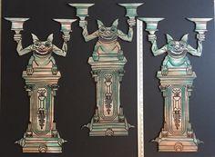 My own props Haunted Mansion 2015 : 30' gargoyle candelabras