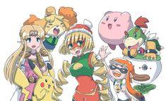 Metroid, Instructions Lego, Art Hama, Super Smash Ultimate, Nintendo Super Smash Bros, Cartoon As Anime, Nintendo Characters, Digimon, Manga
