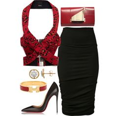 Untitled #375 by fashionkill21 on Polyvore featuring polyvore fashion style URBAN ZEN Josh Goot Christian Louboutin Perrin Hermès