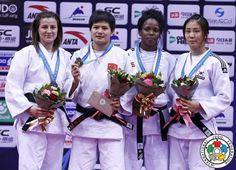 Junxia Yang (CHN), Busra Katipoglu (TUR), Maricet Espinosa (CUB), Ji-Yun Bak (KOR) - Grand Prix Qingdao (2015, CHN) - © IJF Media Team, IJF