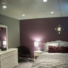 purple and gray bedroom thinking this maybe Brooklyn's room colors by olive