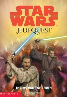 The Moment of Truth (Star Wars: Jedi Quest, Book 7) by Jude Watson, http://www.amazon.com/dp/0439339235/ref=cm_sw_r_pi_dp_4XAdrb0EEJ9DE  could be a softcover $24.93