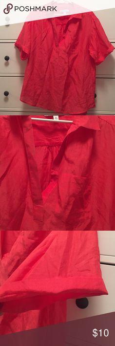 Banana Republic top Banana Republic shirt. 67% cotton. 33% silk. Hand wash. Size M. Banana Republic Tops