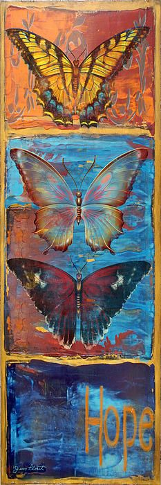 I uploaded new artwork to fineartamerica.com! - 'Hope Butterflies' - http://fineartamerica.com/featured/hope-butterflies-jean-plout.html via @fineartamerica