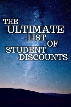A lot of college students miss out on saving serious cash by neglecting student discounts! Most stores don't advertise their discounts, so I've got you covered with this ultimate list of student discounts! (tips on saving money life) College Student Discounts, Financial Aid For College, College Planning, Scholarships For College, Education College, College Students, College Savings, College Student Budget, College Dorms