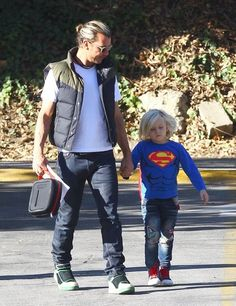 Gavin Rossdale takes his son Zuma to school (November 6, 2013)