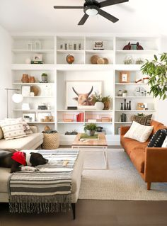 » DIY DESIGN | Living Room Update & Leather Couch Review