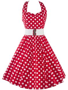 SHARE & Get it FREE | Halter Polka Dot Print Knee Length DressFor Fashion Lovers only:80,000+ Items • New Arrivals Daily • Affordable Casual to Chic for Every Occasion Join Sammydress: Get YOUR $50 NOW!